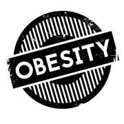 Obesity rubber stamp Stock Illustration