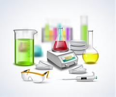 Laboratory Stuff Composition Stock Illustration