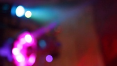 Lumiere in a nightclub Stock Footage