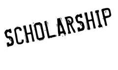 Scholarship rubber stamp Stock Illustration