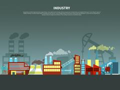 Industry concept vector illustration Stock Illustration