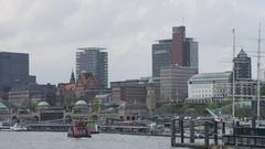 Hamburg Pier of St. Pauli Stock Footage