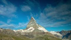 Matterhorn alps switzerland mountains snow peaks ski timelapse morning dawn Stock Footage