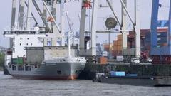 Hamburg Container Port Stock Footage