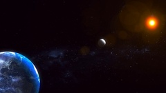 Realistic Planet Earth from space Stock Footage
