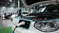 White KIA Soul EV electromobile HD Footage