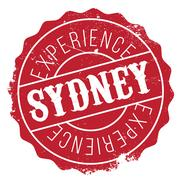 Sydney stamp rubber grunge Stock Illustration