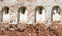 Fortress wall of Kirillo-Belozersky monastery by day. Stock Photos