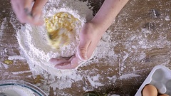 Preparing dough for home made pasta. Stock Footage