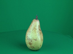 Pear Rotating in Green Screen Chroma Key Matte Stock Footage