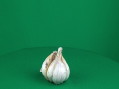 Garlic Rotating in Green Screen Chroma Key Matte Stock Footage