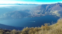 Picturesque panorama of Lake Como, Lombardy, Italy Stock Footage