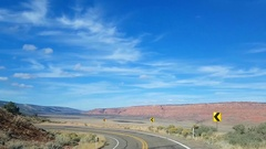 Driving view down a mountain road on highway 89A, north of marble canyon, i.. Stock Footage