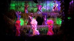 Latin dancers in the Tropicana Club. Havana, Cuba Stock Footage