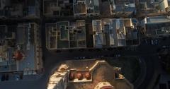 Aerial shot of a church in Mellieha Malta Stock Footage