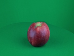 Apple Rotating in Green Screen Chroma Key Matte Stock Footage