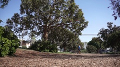 A man going for a run , slow motion. Stock Footage