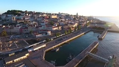Aerial view of Lisbon city, Alfama  - Lisboa Portugal Stock Footage