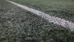 Artificial turf football field. Stock Footage