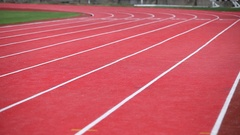 Athletics. Running track at the stadium. Stock Footage