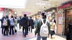 Outside Shinjuku Sta Stock Footage
