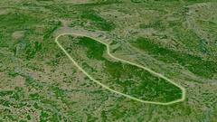 Revolution around Vosges mountain range - glowed. Satellite imagery Stock Footage