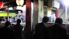 Japanese Salaryman go to dinner after work Stock Footage