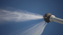 Snow cannon during the work. Snow gun. Stock Footage
