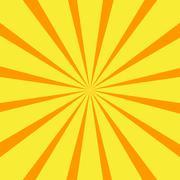 Retro orange background ray Stock Illustration