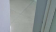 White door handle open close-up Stock Footage