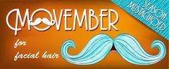 Banner Mustache Season. Stock Illustration