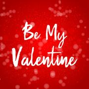 Valentines day greeting card. Be mine Stock Illustration