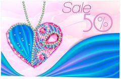 Sale as ?eart of gems a Stock Illustration