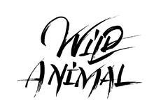 Wild animal calligraphy Stock Illustration