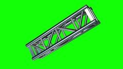 Steel truss girder element Stock Footage