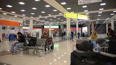 Sheremetyevo airport. Expectation Stock Footage