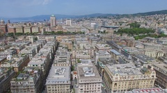 Cityscape and street traffic near Verdi Square gardens at summer Stock Footage