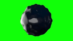3d noise abstract sphere. 3D render HD footage. Stock Footage