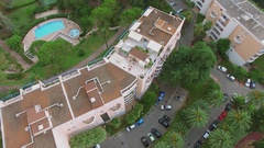 Territory of Les Agapanthes de LEsterel 3 stars inter-hotel with pools Stock Footage