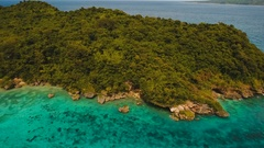 Aerial view beautiful tropical island. Boracay island Philippines Stock Footage