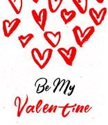 Valentines day greeting card. Be mine. Stock Illustration