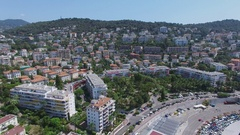 Mont Boron quarter and Parc Vigier at summer sunny day. Stock Footage