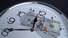 $100 are on the clock. Denominations of 2009. Stock Footage