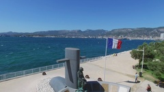 Memorial of Fallen French submariners on sea coast at summer Stock Footage