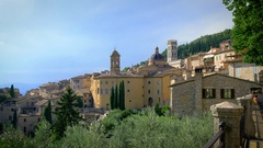 Italy, Assisi, Umbrian city which was the birthplace of St. Francis Stock Footage