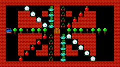 Train puzzle, retro style low resolution pixelated animation, level 43 Stock Footage