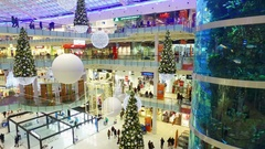 Aviapark-shopping and entertainment, located in Moscow Stock Footage