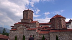 Monastery of Saint Naum Stock Footage