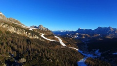 Aerial View of Dolomites (Alps) Mountains in Winter, Italy, 4K UHD Stock Footage