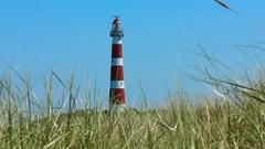 Lighthouse on the island, Ameland Stock Footage